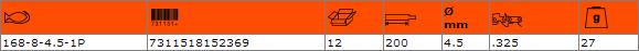 Кръгла заточваща пила BAHCO 168-8-4.5-1P