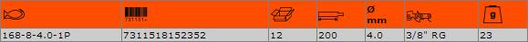 Кръгла заточваща пила BAHCO 168-8-4.0-1P