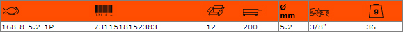 Кръгла заточваща пила BAHCO 168-8-5.2-1P