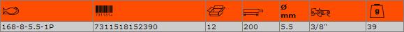Кръгла заточваща пила BAHCO 168-8-5.5-1P