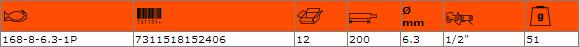 Кръгла заточваща пила BAHCO 168-8-6.3-1P