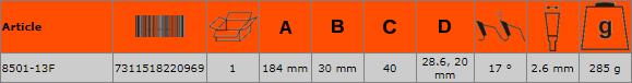 Циркулярен диск за дърво 184mm BAHCO 8501-13F