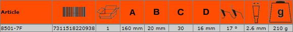 Циркулярен диск за дърво 160mm BAHCO 8501-7F