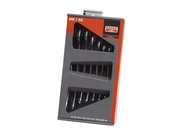 Комплект гаечни ключове от 6 до 22mm BAHCO 6M/S8