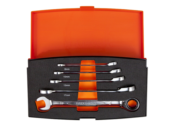 Комплект звездогаечни ключове с тресчотка BAHCO 1RM/S5