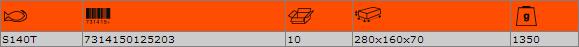 "Комплект вложки и аксесоари 1/2"" BAHCO S140T"