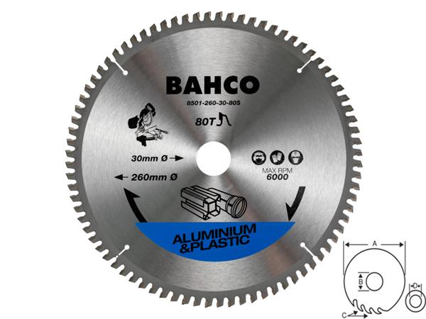 Циркулярен диск за алуминий 210mm BAHCO 8501-17S