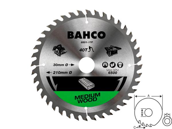 Циркулярен диск за дърво 210mm BAHCO 8501-17F