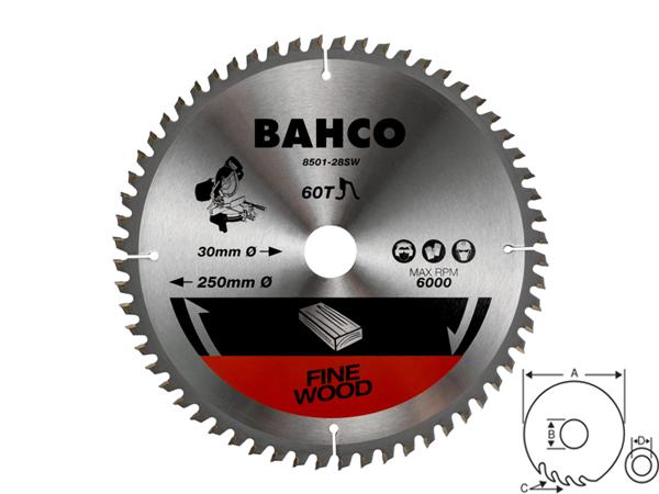 Циркулярен диск за дърво 250mm BAHCO 8501-28SW