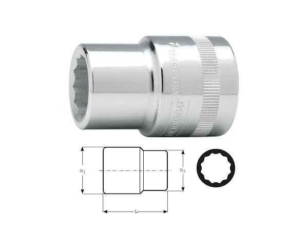 Вложка дванадесетостен 50mm BAHCO 8900DM-50