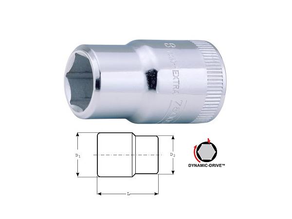 Вложка шестостен 10mm BAHCO 7800SM-10