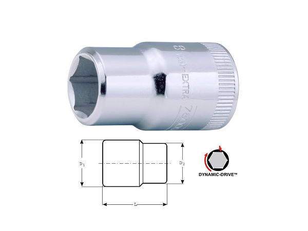 Вложка шестостен 15mm BAHCO 7800SM-15