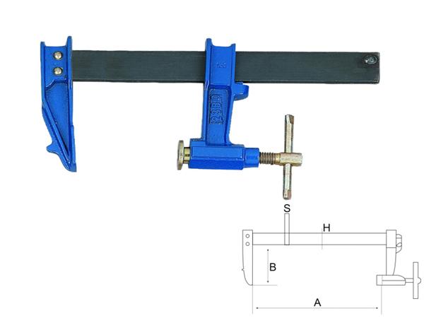 Дърводелска стяга - винтова 1500mm BAHCO 306815000