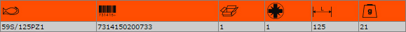 """Накрайник за отвертка PZ1 1/4"""" BAHCO 59S/125PZ1"""