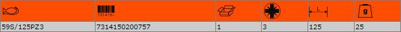 """Накрайник за отвертка PZ3 1/4"""" BAHCO 59S/125PZ3"""