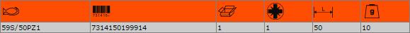 """Накрайник за отвертка PZ1 1/4"""" BAHCO 59S/50PZ1"""
