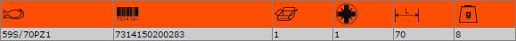 """Накрайник за отвертка PZ1 1/4"""" BAHCO 59S/70PZ1"""