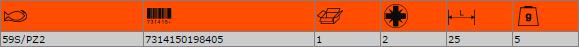 """Накрайник за отвертка PZ2 1/4"""" BAHCO 59S/PZ2"""
