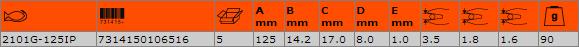 Клещи резачки 125mm BAHCO 2101G-125IP