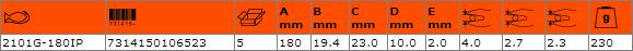 Клещи резачки 180mm BAHCO 2101G-180IP