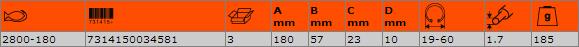 Зегер клещи затварящи 180mm BAHCO 2800-180