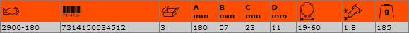 Зегер клещи отварящи 180mm BAHCO 2900-180