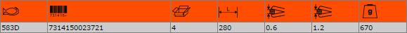 Ножица за рязане на ламарина BAHCO 583D