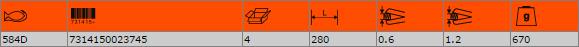 Ножица за рязане на ламарина BAHCO 584D
