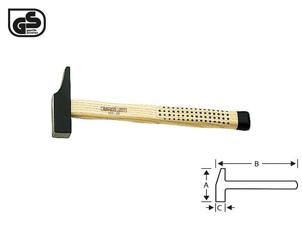 Дърводелски чук с метална глава 400g BAHCO 483-28