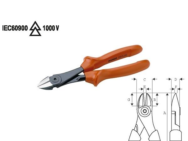 Клещи резачки 1000V 180mm BAHCO 2101S-180