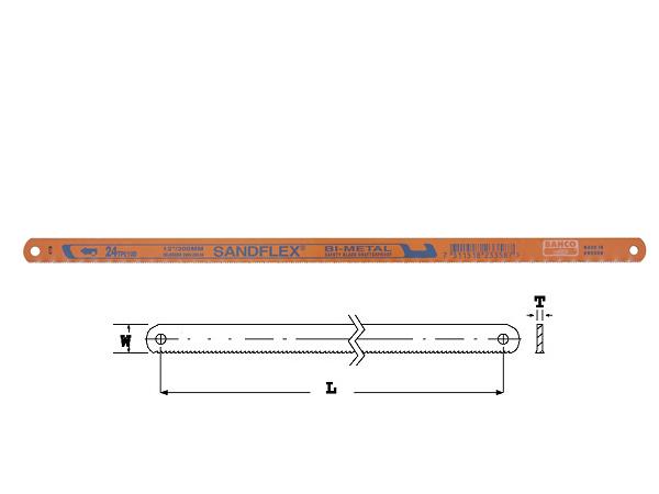 Лист за ръчна ножовка 300mm BAHCO 3906-300-14-100