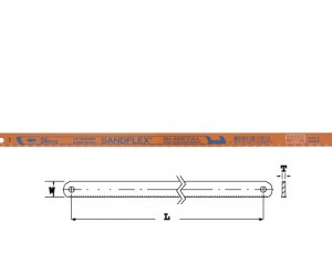 Лист за ръчна ножовка 300mm BAHCO 3906-300-24-100
