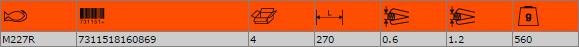 Ножица за рязане на ламарина BAHCO M227R