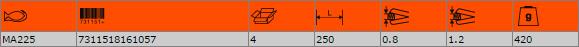 Ножица за рязане на ламарина BAHCO MA225