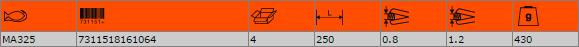 Ножица за рязане на ламарина BAHCO MA325