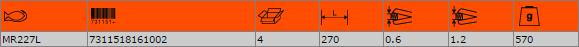 Ножица за рязане на ламарина BAHCO MR227L