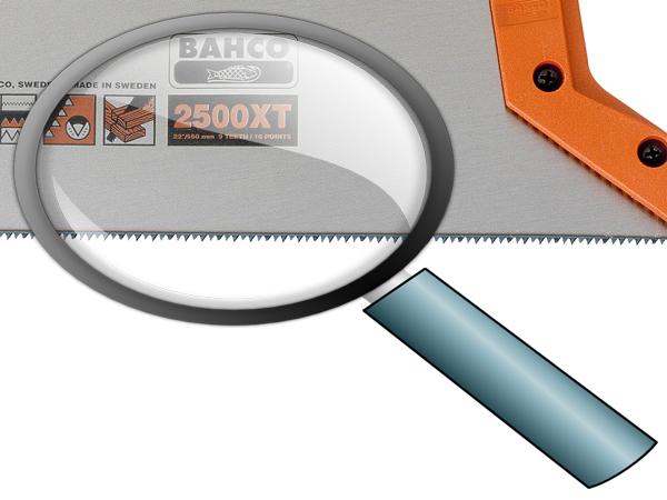 Ръчен трион закалени зъби BAHCO 2500-22-XT-HP