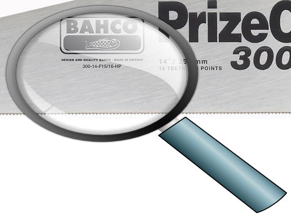Ръчен трион закалени зъби BAHCO 300-14-F15/16-HP
