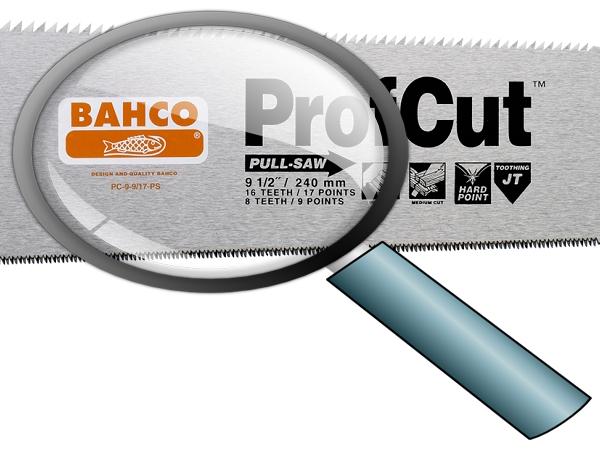 Ръчен трион закалени зъби BAHCO PC-9-9/17-PS