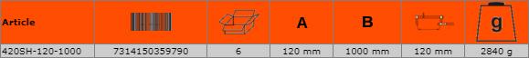Дърводелска стяга - винтова 1000mm BAHCO 420SH-120-1000