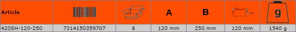 Дърводелска стяга - винтова 250mm BAHCO 420SH-120-250