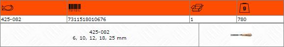 Комплект плоски длета 6-10-12-18-25mm BAHCO 425-082