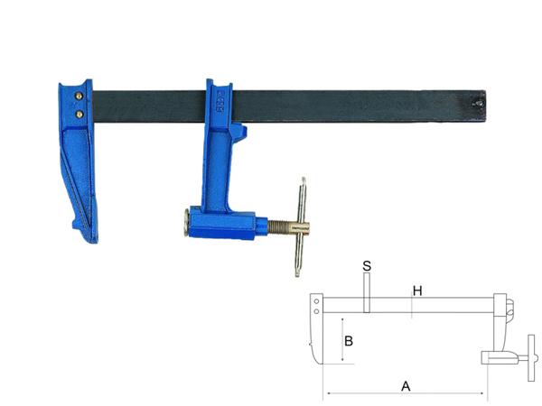 Дърводелска стяга - винтова 1500mm BAHCO 306715000