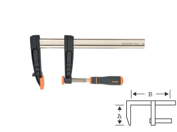 Дърводелска стяга - винтова 160mm BAHCO 420SH-80-160