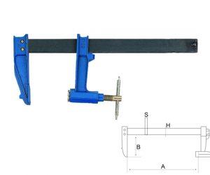 Дърводелска стяга - винтова 250mm BAHCO 306702500