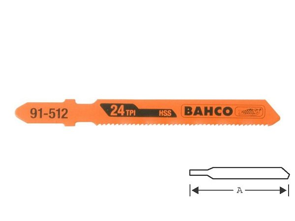 Ножове за зеге - метал 75mm BAHCO 91-512-5P