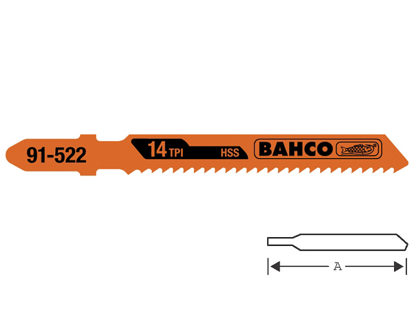 Ножове за зеге - метал 75mm BAHCO 91-522-5P