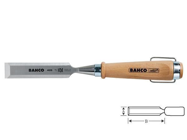Плоско длето с дървена дръжка 8mm BAHCO 425-8