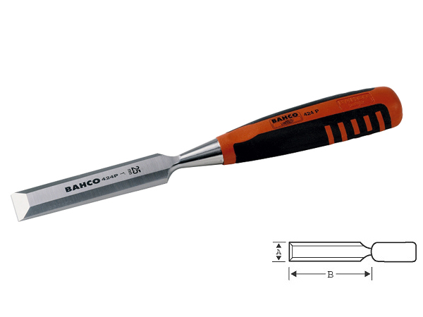 Плоско длето с пластмасова дръжка 18mm BAHCO 424P-18