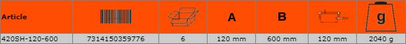 Дърводелска стяга - винтова 600mm BAHCO 420SH-120-600